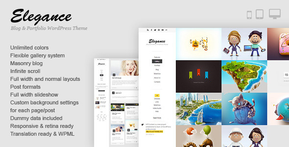 Elegance  Portfolio WordPress Theme