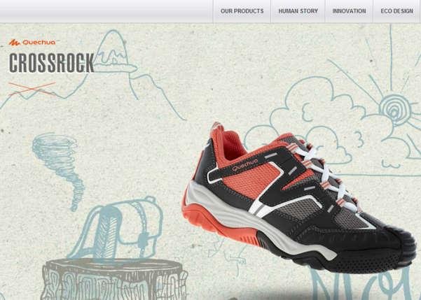 Quechua CrossRock 2013 Sport Web Design