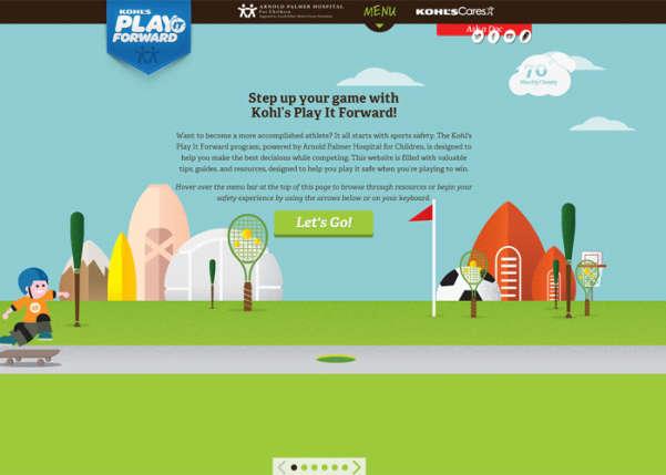 Kohl's Play It Forward Sport Web Design