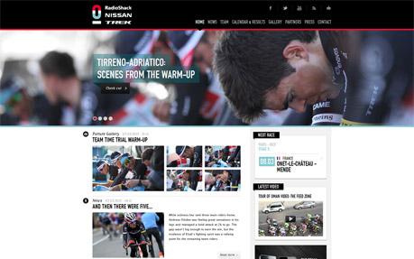 Radioshack Nissan Trek Sport Web Design