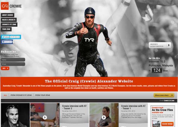 Craig Alexander Sport Web Design