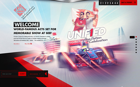 UniF1ed - Bahrain International Circuit Sport Web Design