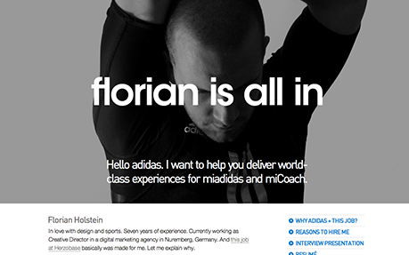 florian is all in Sport Web Design
