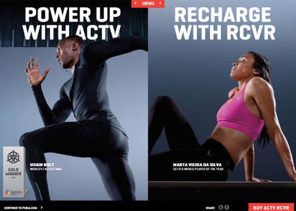 PUMA: ACTV / RCVR Sport Web Design