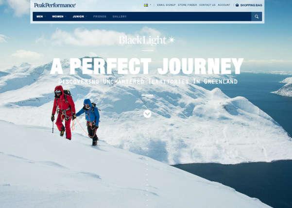 Peak Performance - Black Light Sport Web Design