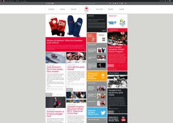 Canadian Olympic Team Sport Web Design