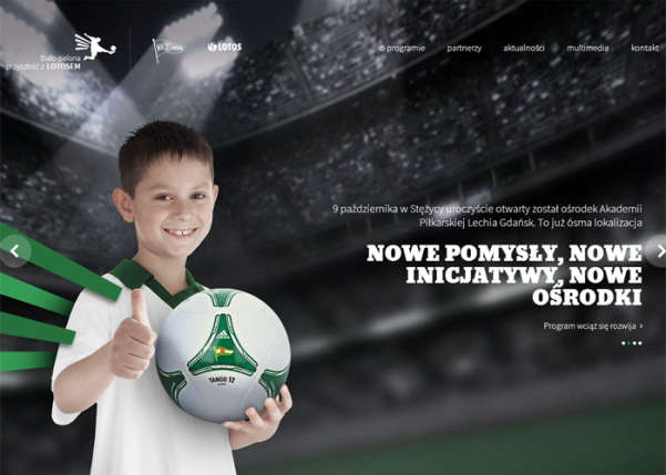 LOTOS Young Footballers Promotion Programme Sport Web Design