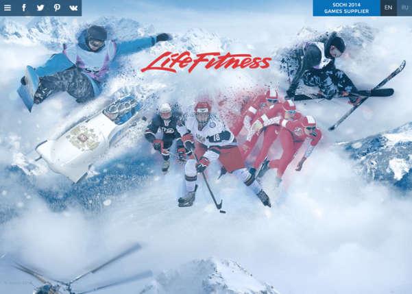 Life Fitness at the Sochi 2014 Winter Olympics Sport Web Design