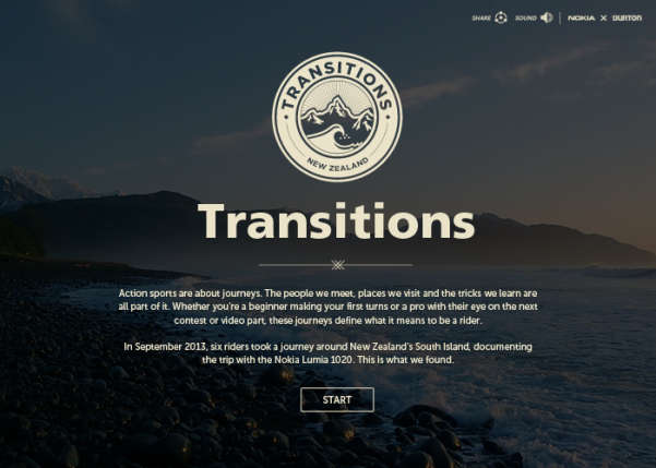 Nokia Transitions Sport Web Design