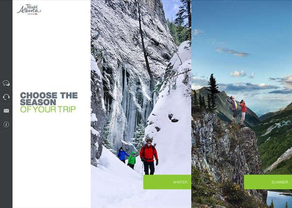 Travel Alberta Trip Planner Sport Web Design