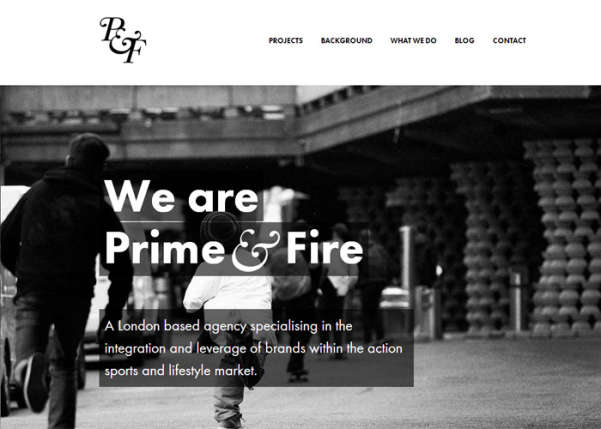 Prime and Fire Sport Web Design