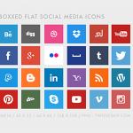 Freebie: Free Flat Social Media Icons