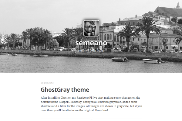 caspergray free ghost theme