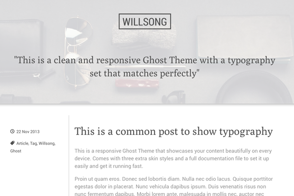 willsong free ghost theme