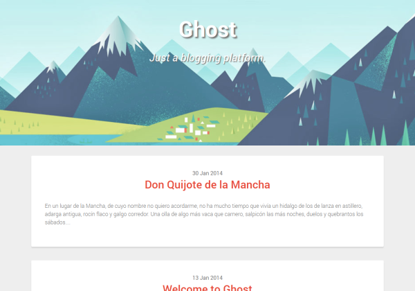 now free ghost theme
