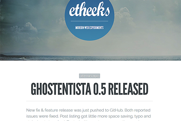 ghostentista free ghost theme