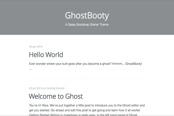 ghostbooty free ghost theme