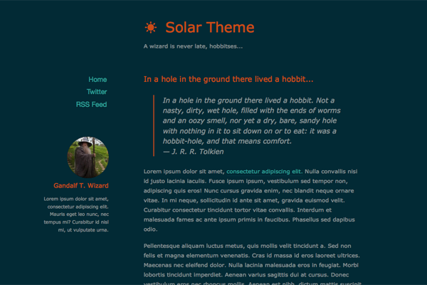 solar free ghost theme