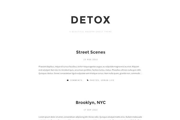 detox free ghost theme