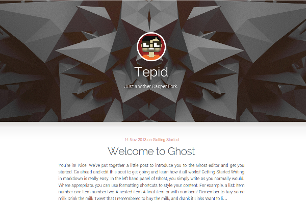 tepid free ghost theme