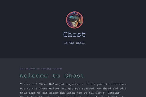 the shell free ghost theme