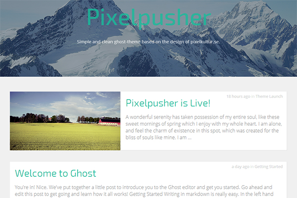 pixelpusher free ghost theme