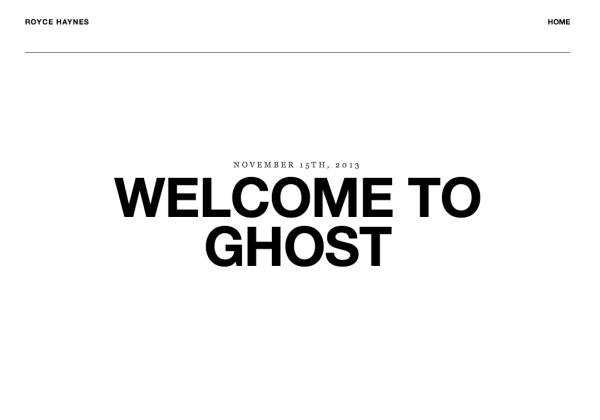rolls free ghost theme