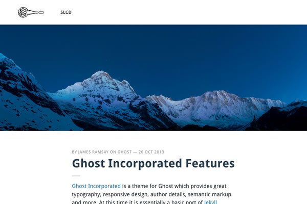incorporated free ghost theme