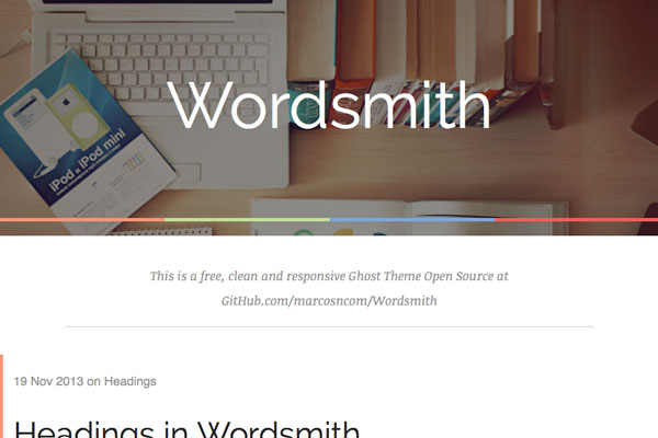 wordsmith free ghost theme