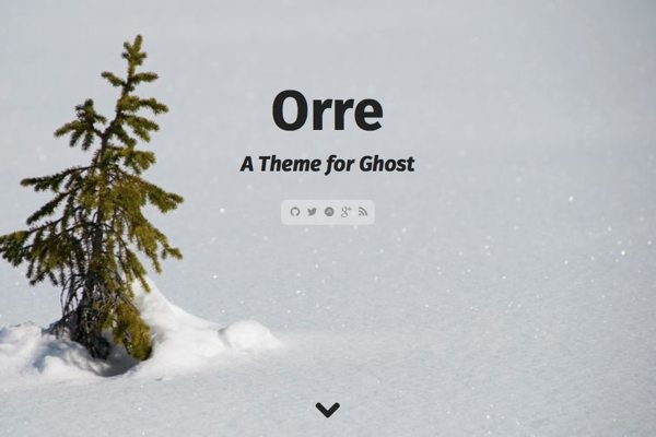 orre free ghost theme