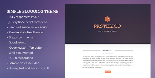 Pastelico Ghost Layout