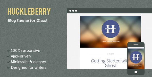 Huckleberry Ghost Theme