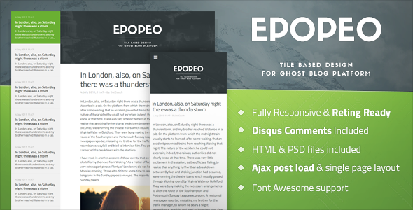 Epopeo Ghost Theme