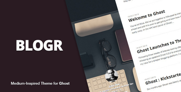Blogr Ghost Theme