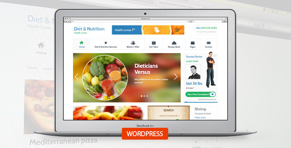 Diet Nutrition Center Health WordPress Theme
