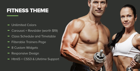 Fitness Premium Gym Health WordPress Theme