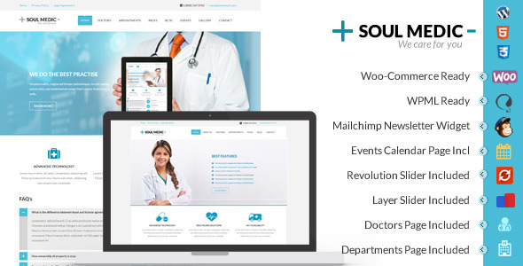 Soulmedic Flat Health WordPress Theme