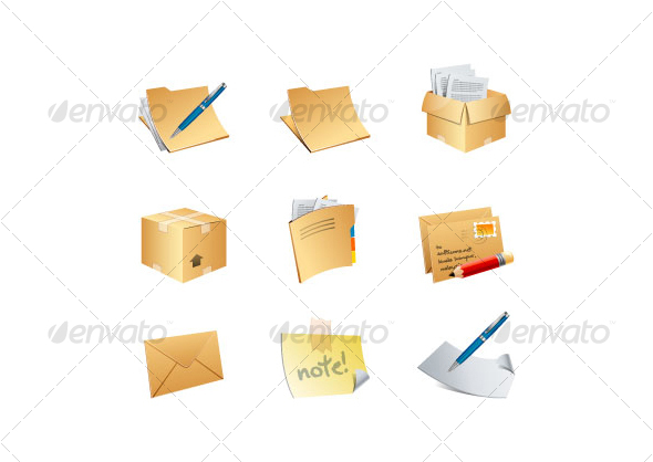 office 9 business icons