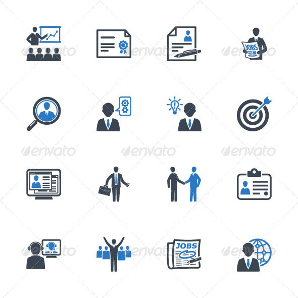 employment business icons