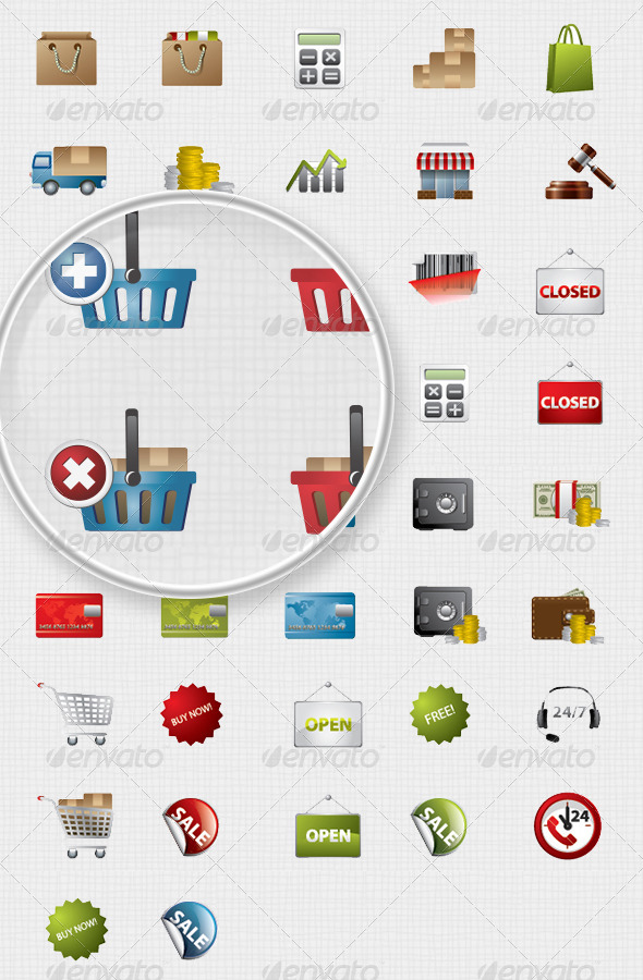 42 shopping icons