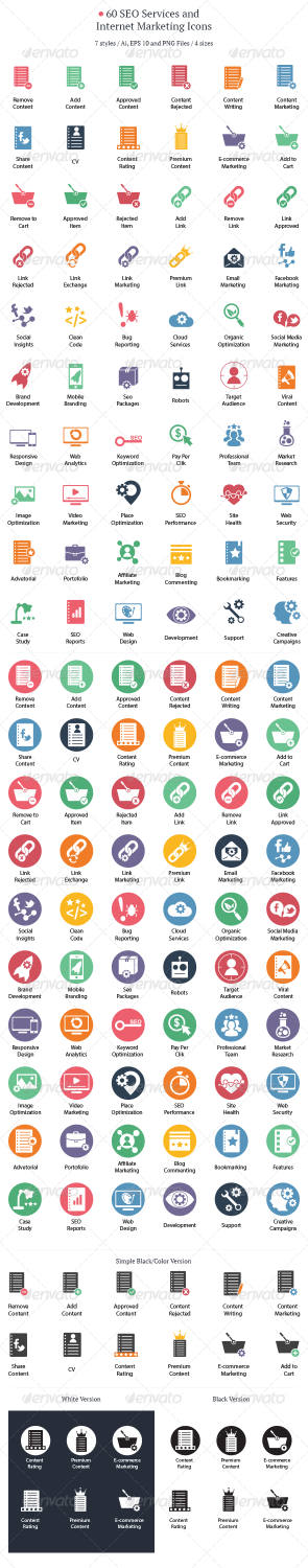 seo services internet icons