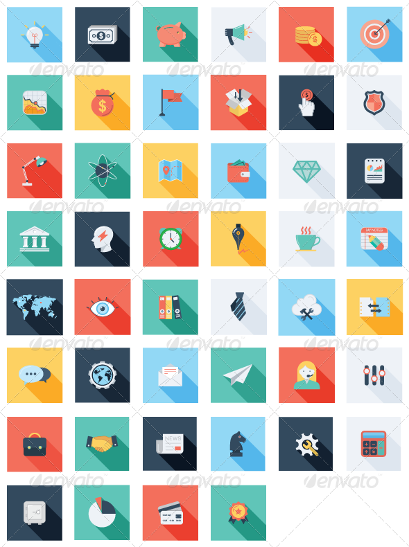 47 seo business icons
