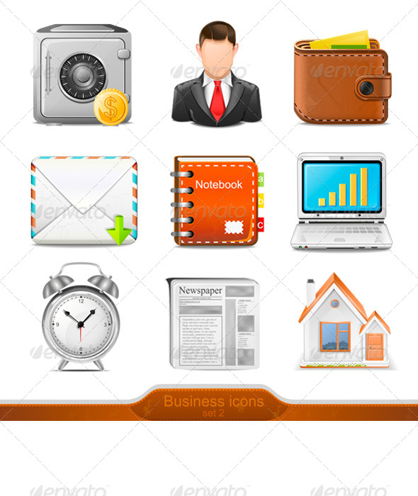 2 business icons set