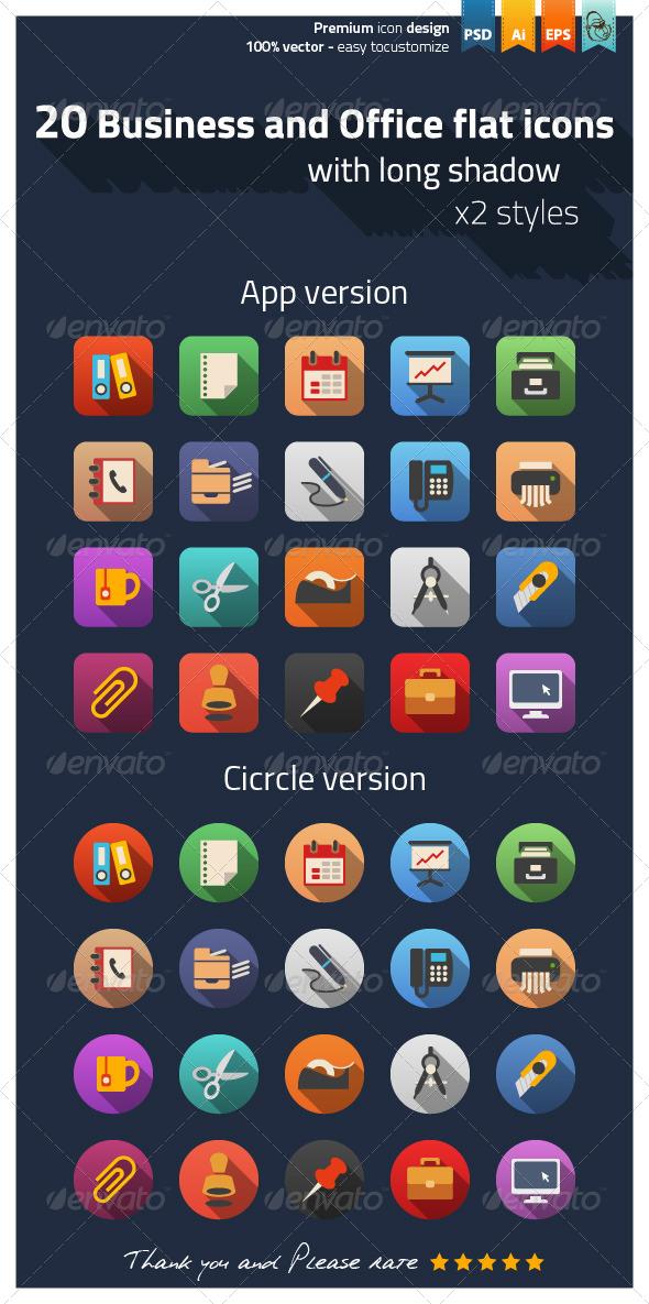 fice flat icons