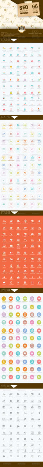seo mega pack icons set