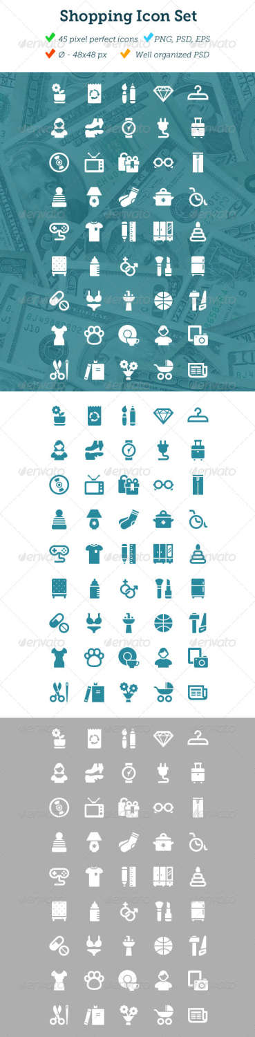 shopping part 2 business icons set