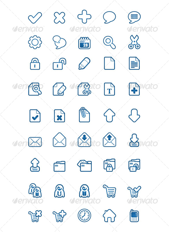 bluesakura 45 icons
