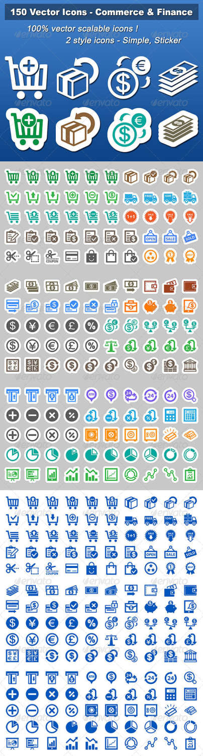 150 vector business icons