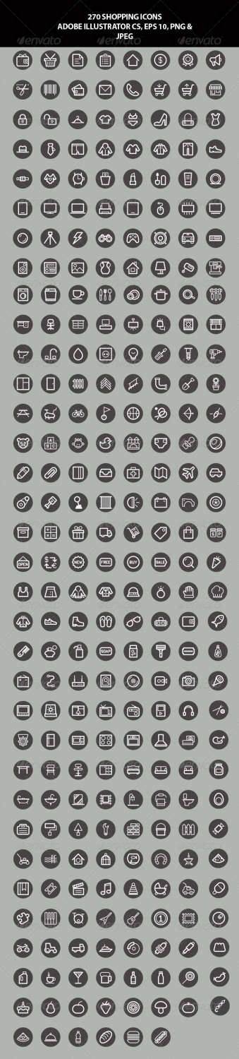 270 shopping business icons