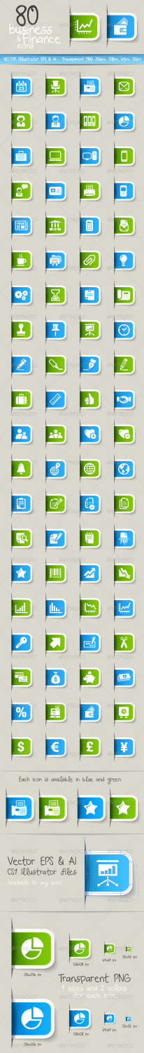 80 finance business icons